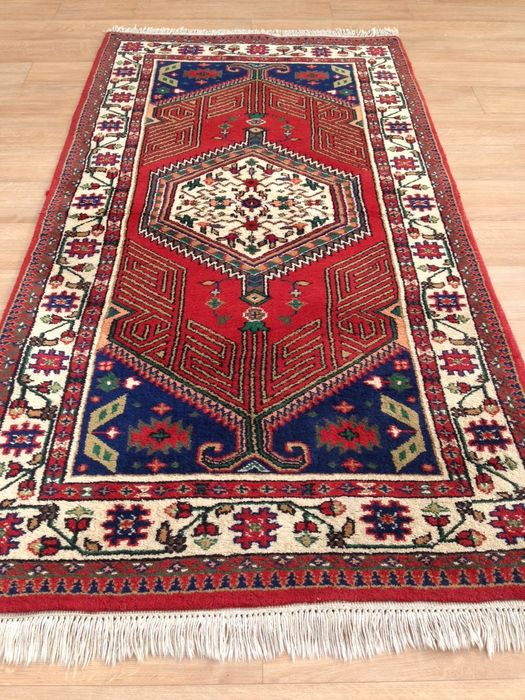 Nice Hand Knotted Indian Orient Rug With Thick Wool Very