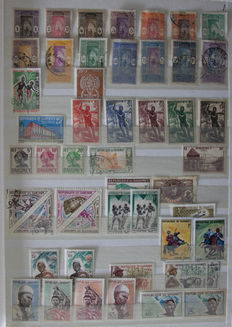 African and South American countries - collection in Davo album