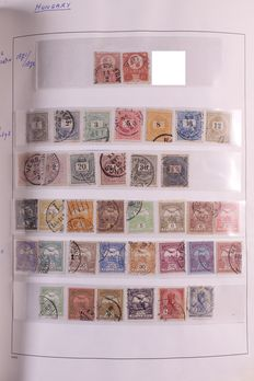 Hungary 1871/1974 - Collection on blank pages in a DAVO binder