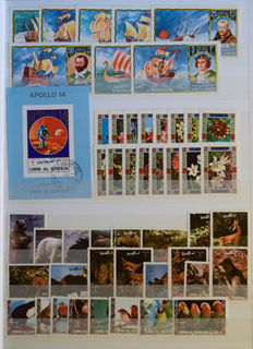 Arab States - Collection including a lot of topical stamps in five stock books