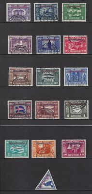 Iceland 1930 - Official stamps - Michel D44/D59