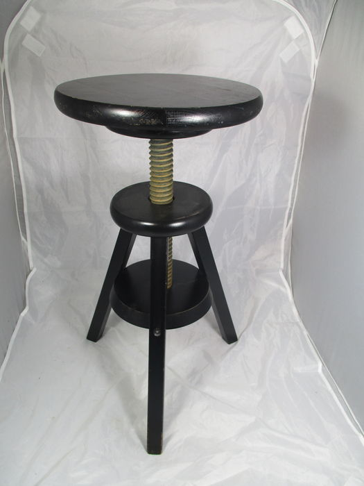 Adjustable piano stool from oak wood appr catawiki