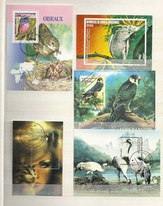 Birds - Topical collection in stock book