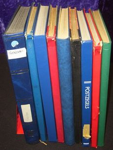 World - Collection with duplication including Turkey and Suriname in 10 stock books