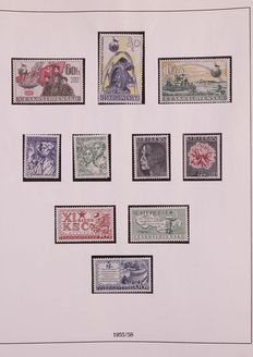 Czechoslovakia 1956/1964 - Complete collection in Lindner album