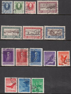 Liechtenstein 1925/1934 - Various issues - Michel 72/74, 79/81, 122/124 and 143/147.