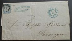 Norway 1856 - Michel 1 on letter