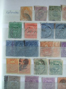 Colombia 1860/2010 and Guatemala 1864/1992  -  Collection of + 850 stamps with airmail, postage due, telegraph, charity and postal stationary