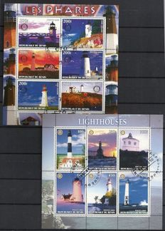 World - 275 miniature sheets including lighthouses, sports, film and chess