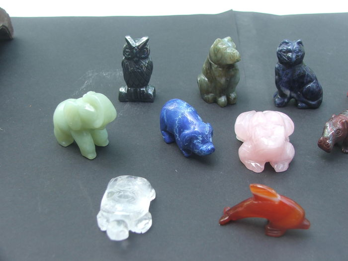 lot of 12 different cut gemstone animals catawiki