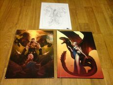 A Game of Thrones 1, 2 + prent - luxe hc - (2013 )