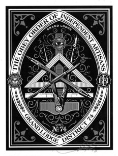 Shepard Fairey (OBEY) - Obey order of independent artisans