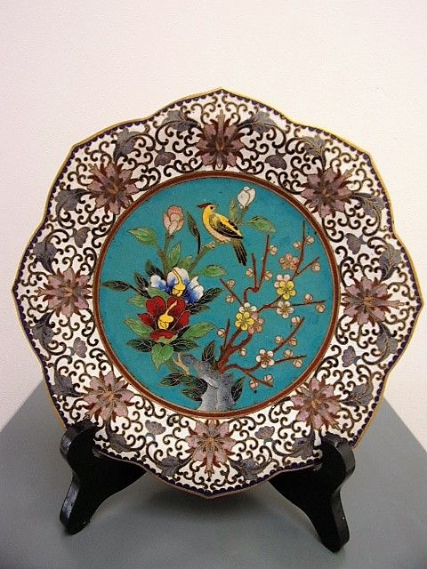 cloisonn decorative plate china mid 20th century catawiki. Black Bedroom Furniture Sets. Home Design Ideas