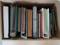 World - Batch in 15 stock books and albums in cardboard box