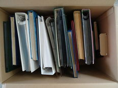 World - Batch in 17 stock books and albums in cardboard box