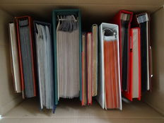 World - Batch in 15 stock albums and albums in cardboard box