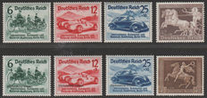 German Reich 1938/1940 - 4 sets - Michel 686/688, 671, 695/697 and 747