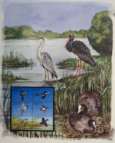 Vogels - Thema collect 'The International Birdlife Stamp collection'