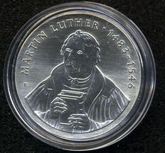 GDR - 20 Mark 1983 500th birthday of Martin Luther -  Silver