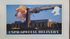 James Cauty -CNPD Tate Modern special delivery stamp print