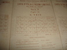 n. 3 military maps printed by the Italian army during the Italo-Austrian War 1915 - 16 - 17