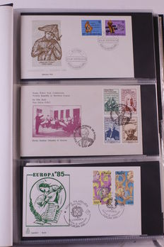 Europa Stamps 1985/1996 - Collection of ± 375 FDCs CEPT in 5 albums