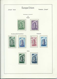 Europa stamps 1956/1985 - Collection including followers in 2 Leuchtturm albums