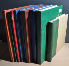 World - Batch including Italy, English territories, France, South Africa in nine stock books