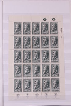 Israel 1951/1967 - Collection of 64 complete sheetlets with full tab in stock book