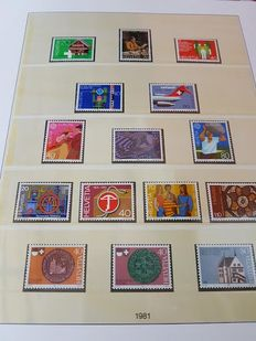 Switzerland 1976/1994 - Complete anual collections on Lindner pages