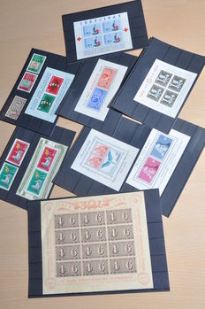 Switzerland - Collection Michel Block 3, 4, 9, 13, 15, 16, 17 and 19 and stamps from blocks