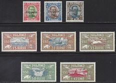 Iceland 1930/1931 - Selection of Michel 142/146 and 147/149
