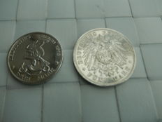 Two silver coins German Reich