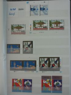 United Nations Geneva 2004/2010 - Collection including sheets, pairs and blocks of 4 in stock album + miscellaneous