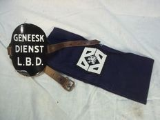 2 bracelets of the Air Raid Protection Service and Civil Protection Service