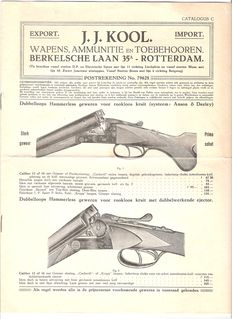 Netherlands - Weapon catalogue - 20s/30s