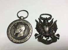 Lot of 2 medal Napoleon - campaign of Italy 1859