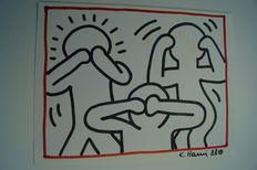 Keith Haring (attributed) - Not see, not hear, not speak