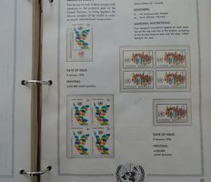 United Nations 1951/1979 - Collection of duplications including blocks of 4 in 2 special reprint albums