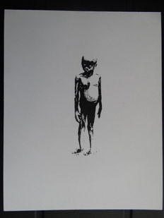Banksy Barely Legal Los Angeles Show Card Flyer LA Druck Lithographie 2006