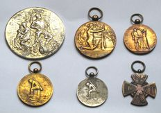 Dutch medals First World War and Voluntary Landstorm and military map