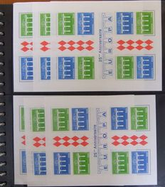 European countries - Batch of miniature sheets and sheetlets in bulk including Monaco and Europa stamps in two albums