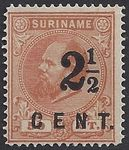 Check out our Suriname 1892 - Aid edition, line perforation 14 large holes - NVPH 21B