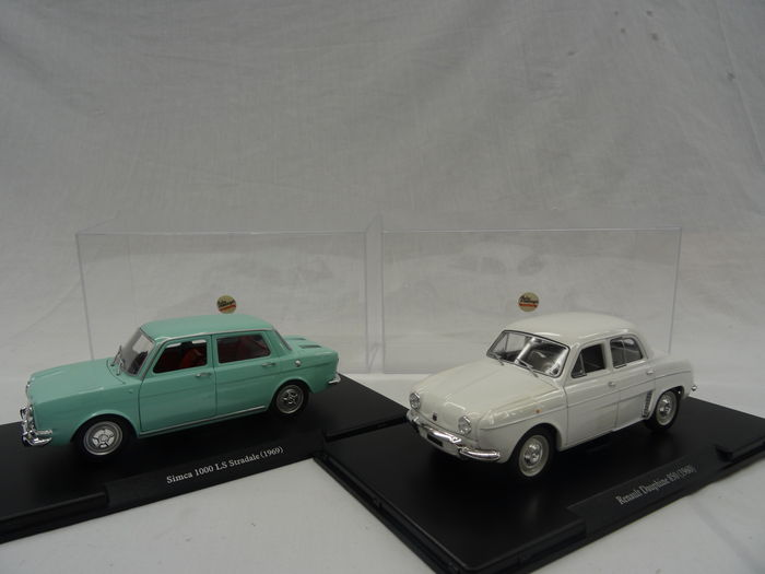 leo models auto vintage scale 1 24 lot with 2 models simca 1000 ls stradale 1969 and. Black Bedroom Furniture Sets. Home Design Ideas