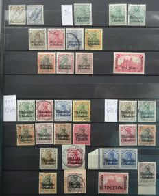 German post offices Morocco 1899/1911 - Composition on stock cards