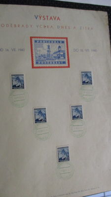 Bohemia and Moravia - Collection with letters and postal items 30s/40s and commemorative panels