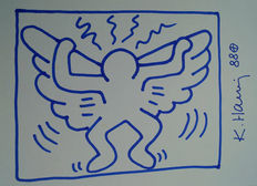 Keith Haring (attributed) - Blue Angel