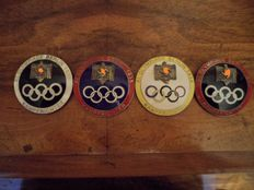collection of 4 badges from the judge of the Olympic Games of 1936 in Germany