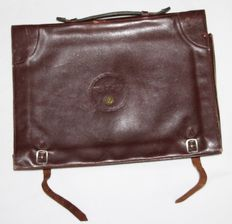 German leather briefcase for officer in senior officer - WW2