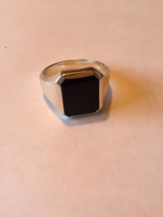 signet ring unmarked silver with onyx catawiki